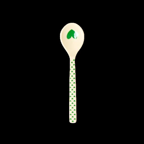 Rice: Melamine theelepel hartjes - Groen