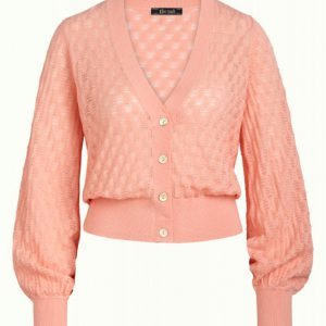 King Louie: Cardi V Bell Sleeve Sunset Peony Pink