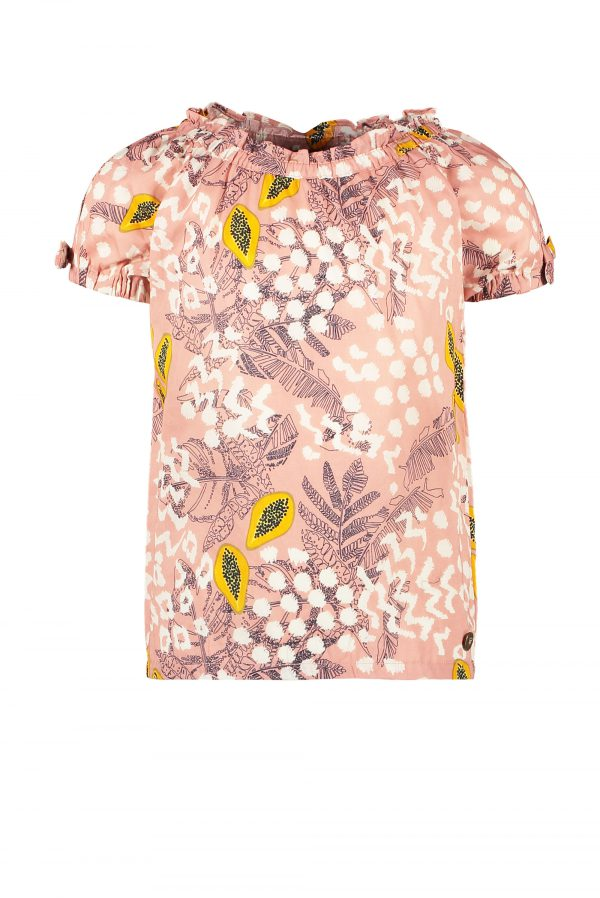 Like FLO: Roze papaya print TOP