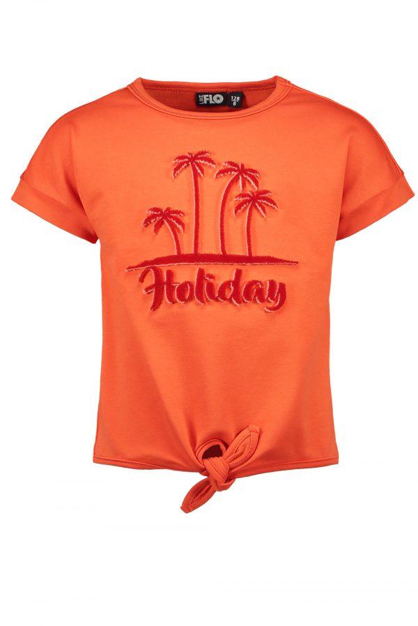 Like FLO: Rode korte mouwen zomer sweater