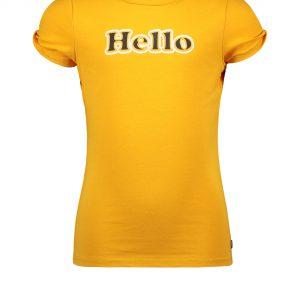 Like FLO: Oranje shirt HELLO
