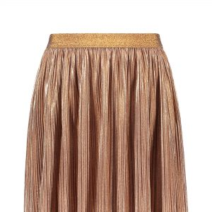 Like FLO: Rosé gouden plissé rokje