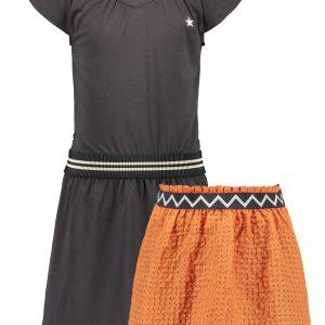 Like FLO: Antraciet twee-delig jurkje