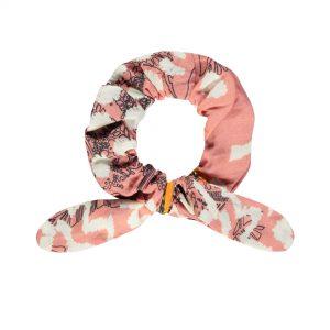 Like FLO: PINK PAPAYA haar scrunchie
