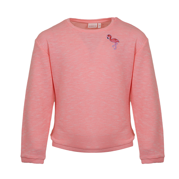 Mini Rebels: Sweater MALY fluo pink MALY-SG-16-D_FLUO-PINK_F
