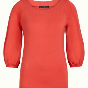 King Louie: Rosario Top Ecovero Light - Poppy red