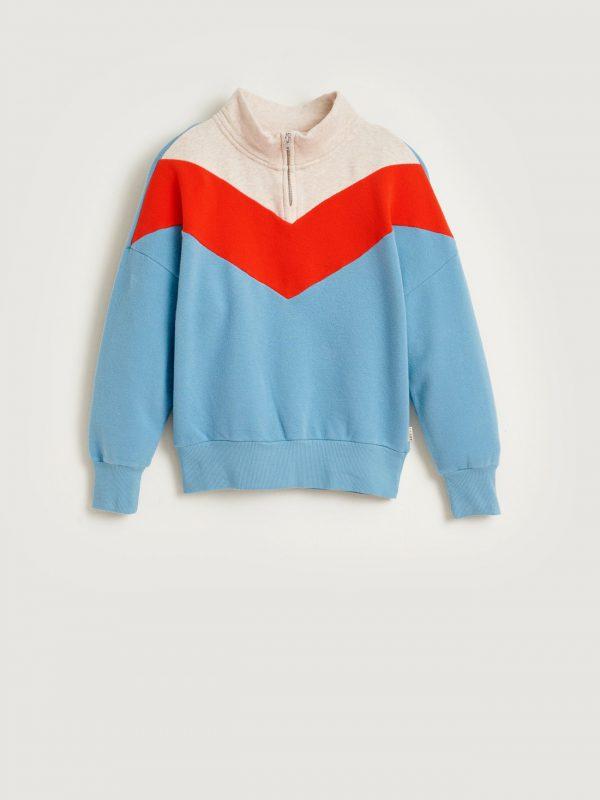 Bellerose: Sweater VICHY BLR_GIRLS_SWEATSHIRTS_VICHY_T1341_BLUE_EYES