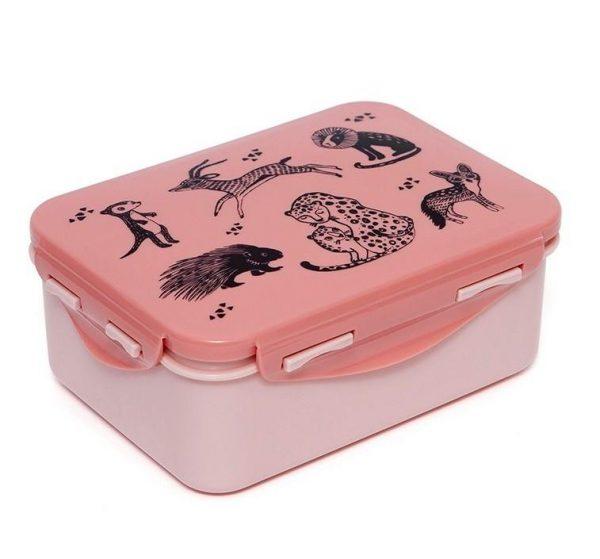 Petit Monkey: Lunchbox Black animals - Desert rose
