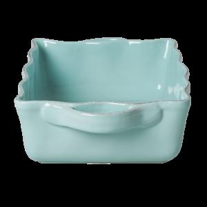 RICE: Medium rechthoekige taartvorm / ovenschaal - Aardewerk mint CEOVE-LMI