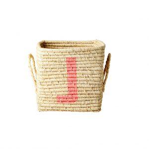 Rice: Vierkante Raffia mand - Natural - J - BSRAT-20J