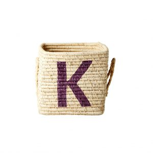 Rice: Vierkante Raffia mand - Natural - K - BSRAT-20K