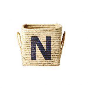 Rice: Vierkante Raffia mand - Natural - N