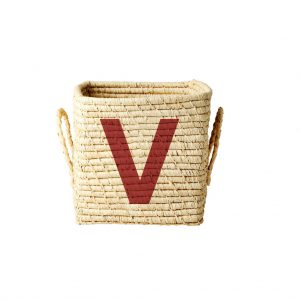 Rice: Vierkante Raffia mand - Natural - V - BSRAT-20V