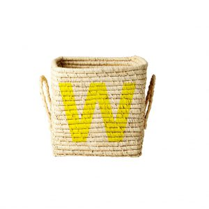 Rice: Vierkante Raffia mand - Natural - W - BSRAT-20W