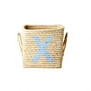 Rice: Vierkante Raffia mand - Natural - X