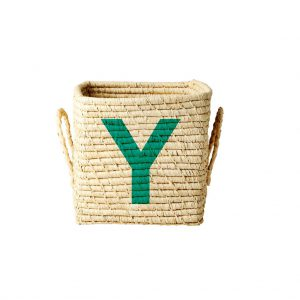Rice: Vierkante Raffia mand - Natural - Y - BSRAT-20Y