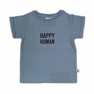 Cos i Said So: HAPPY HUMAN t-shirt faded denim