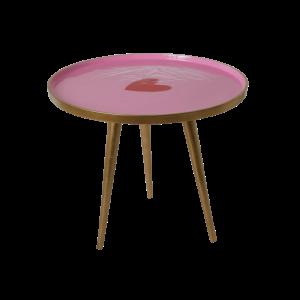 Rice: Rond metalen tafeltje - Hart TABLE-SRNI