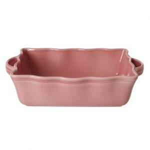 RICE: Grote rechthoekige taartvorm / ovenschaal - Aardewerk - Zacht roze CEOVE-LSI