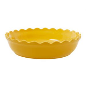 RICE: Grote ronde taartvorm / ovenschaal - Aardewerk -GeelCEPIE-LY