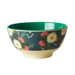 Rice: Medium melamine kom - Wedding Bouquet Print MELBW-WEB