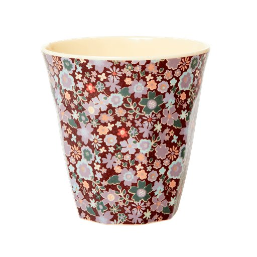 MELCU-FAFL Rice: Medium melamine beker - Fall floral print