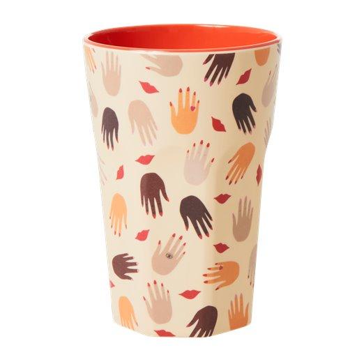 Rice: Grote melamine beker - Hands and kisses print MELCU-LHAN