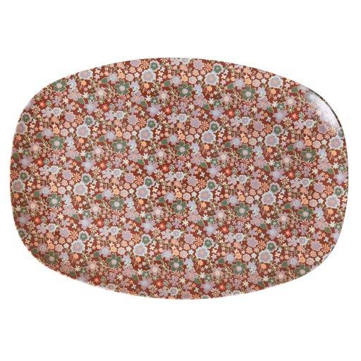 Rice: Rechthoekig Melamine Bord - Fall floral print MELPL-FAFL