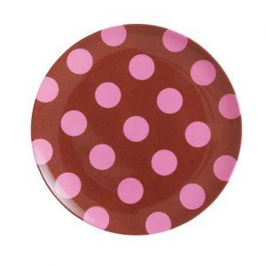 Rice: Melamine lunch bord - Pink dots MESPL-TDOTI