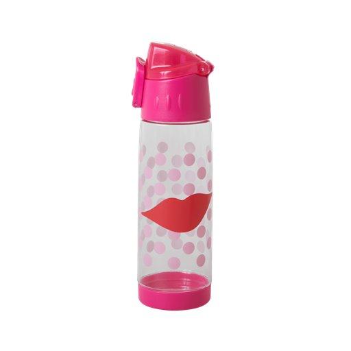 PLBOT-KIS Rice: Drinkfles - Roze - Kiss Print