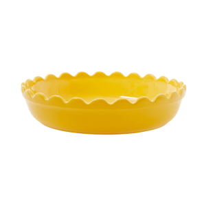 RICE: Kleine ronde taartvorm / ovenschaal - Aardewerk -GeelCEPIE-SYE