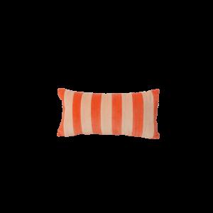 Rice: Klein kussen - Strepen abrikoos oranje CSREC-SSTROAP
