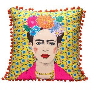 Talking Tables: Kussen Frida - Geel bloemen