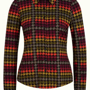 King Louie: Blouse Houndstooth