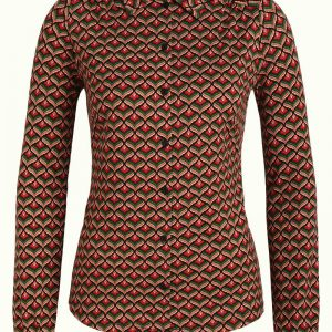 King Louie: Blouse Residence - Berry red