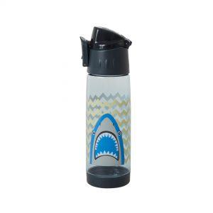 Rice: Drinkfles - Blauw - Shark Print PLBOT-SHA