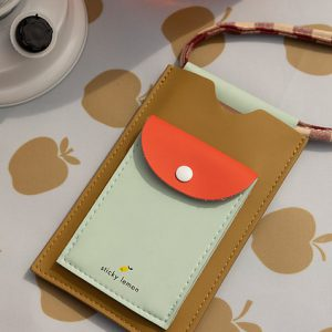 Sticky Lemon: Phone pouch xl | pool green + apple red + leaf green