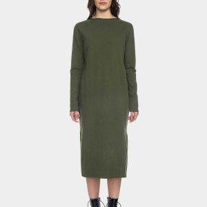 ATO Berlin: Sweat jurk MAAIKE groen Kleid Maaike GOTS CO 27/099 RGRN