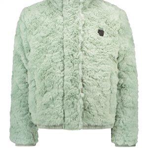 Like Flo: Fancy fur jacket - mint