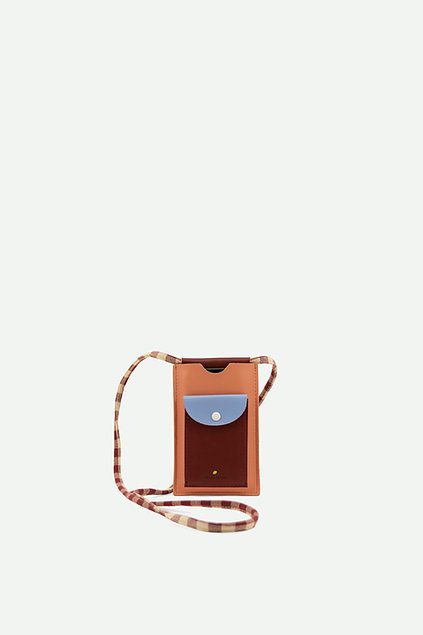 Sticky Lemon: Phone pouch xl   cherry red + sunny blue + berry swirl