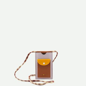 Sticky Lemon: Phone pouch xl | chocolate sundae + daisy yellow + mauve lilac