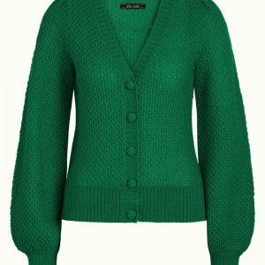 King Louie: Cardi V Farfalle - Winter green