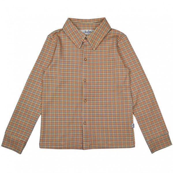 Ba*Ba Kidswear: Boys shirt W21 - Ruit BOYSSLS/PCHBLO/W21