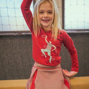 Ba*Ba Kidswear: Hoop longsleeve W21 HOOPLS/RED/W21