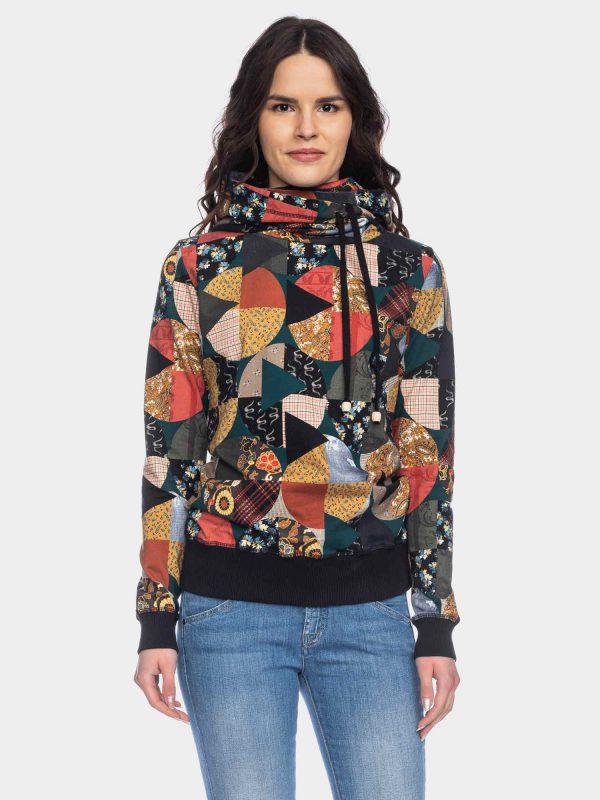 ATO Berlin: Sweater JONDRA patchwork print Pulli Jondra CO 14/070 MULTI