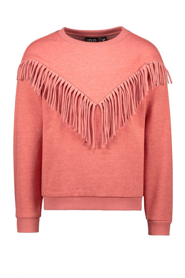 F109-5395 Like FLO: Sweater frill - Coral