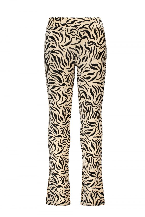 Like FLO: Broek velvet flared - Zebra