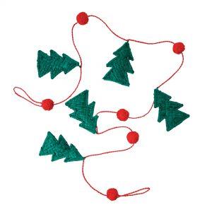 Rice: Raffia slinger GARLAND - Kerstboom GARLA-TREAW21