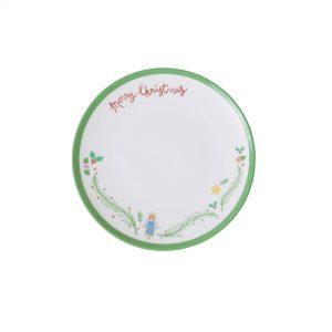 RICE: Klein rond melamine dessert bord -XMas Angel PrintXMECP-AW21G