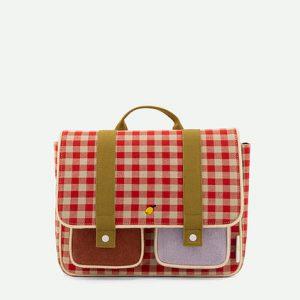 Sticky Lemon: School bag | gingham | poppy